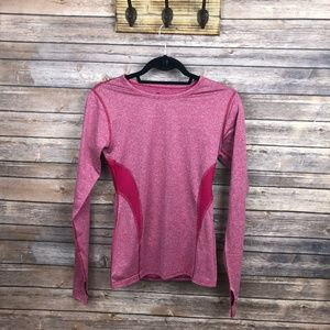 Champion Pink Athletic Top Long Sleeve Size Small